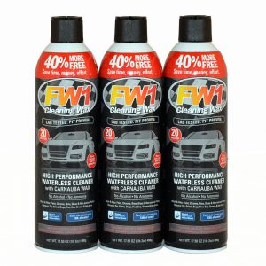 Product photo of FW1 3 Pack Australia's best car polish set for auto car detailing & automotive detailing. Wash, wax and polish 3 in 1 car care products. High Performance waterless car care products.