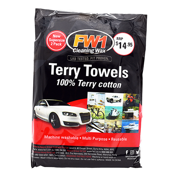 FW1-Terry-Towels-good-car-accessories-image FW1 2PK Terry Towel | Best Car Wipes