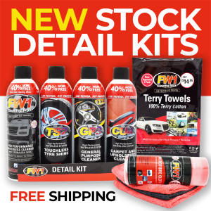 Image of Best Car Detailing Kit Australia by FW1 Wash Wax and Clean Car Cleaning Products