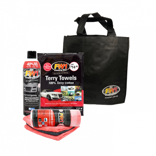 THE FW1 STARTER PACK - CAR CLEANER KIT AUSTRALIA waterless car wash products australia waterless car wash kit