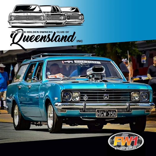 FW1 Sponsor HK HT HG Holden Owners Club Of Queensland